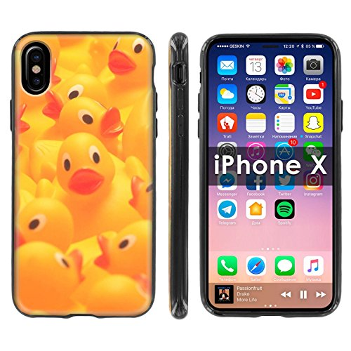 Elmo Silicone Case - [Mobiflare] TPU Silicone Phone Case FIT Apple i-Phone X [Black] Ultraflex Thin Gel Phone Cover [SCREEN PROTECTOR INCLUDED] - [Rubber Ducky]