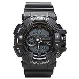 Men's Watches Man Digital Stopwatch Waterproof Sports Watches Electronic Quartz Water Resist 164FT Black