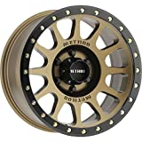 Method Race Wheels NV Bronze/Black Street Loc Wheel with Zinc Plated Accent Bolts (168''/65.5'' 0mm Offset)
