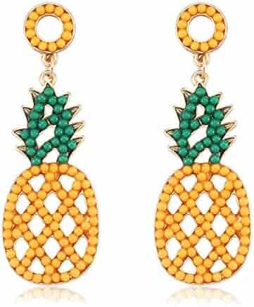 96ea57944 Seni Bead Drop Earrings Bohemian Seed Bead Earrings Handmade Beaded Dangle Studs  Earrings for Women Girls