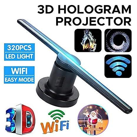 Holograma 3D Proyector Ventilador Tienda holográfica Reproductor ...