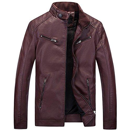 Giacca Alta In Xxxl Cappotti Moda Giacche Solido Red Casual Pelle Qualità Maschile Di qzWrqd