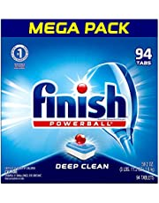 Finish All In 1, Dishwasher Detergent - Powerball - Dishwashing Tablets - Dish Tabs, Fresh Scent, 94 Count Each