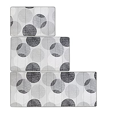 "Madison Park Knowles Reversible Memory Foam Bath Mat Casual Geometric Dark Bathroom Rugs, 24X40, Grey - Rug pad recommended 100% polyester, 240gsm coral fleece, 45D memory foam 1 Rug:24""W x 40""L - bathroom-linens, bathroom, bath-mats - 51z0s7sqhIL. SS400  -"