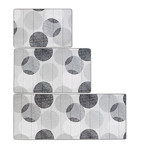 Madison Park Essentials Knowles Reversible Memory Foam Bath Mat Casual Geometric Dark Bathroom Rugs, 24X40, Grey, (Room Essentials Bath Rug)