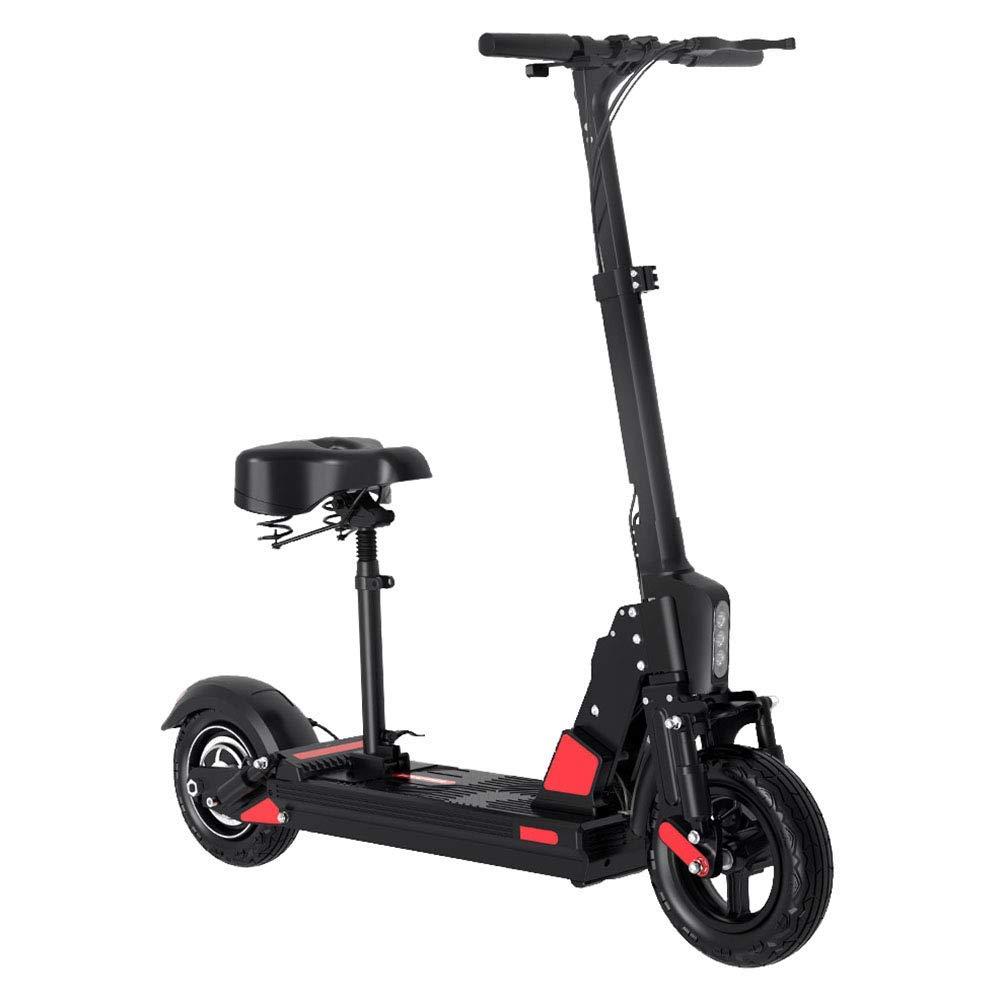 3040km(10ah) ZDDOZXC Scooter elettrico, scooter elettrico pieghevole 36V   350W 10 '' E-scooter con sedile, fino a 30 km   h E-Scooter a doppio freno regolabile in altezza, 30  40km (10AH)