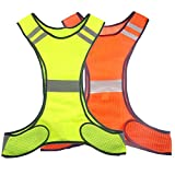 Ueasy Running Cycling Safety Vest Reflective Vest With Reflective Stripes