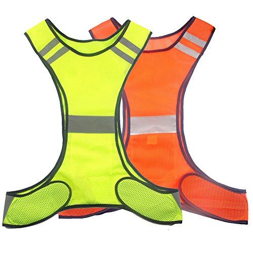 Ueasy Reflective Vests,Safety High Visibility Construction Hi Vis Vest Jacket-Traffic Work Security Zipper Men