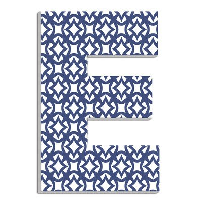 Stupell Home Décor Navy and White Geometric 18 Inch Hanging Wooden Initial, 12 x 0.5 x 18, Proudly Made in USA by Stupell Industries