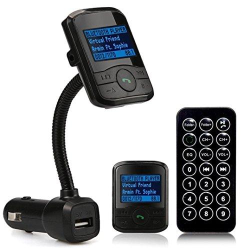 Creazy LCD Car Kit MP3 Bluetooth Player FM Transmitter Modulator SD MMC USB Remote