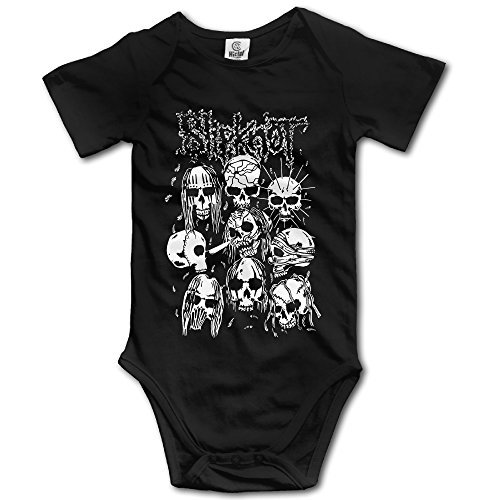 LCNANA Band Slipknot Funny Climbing Clothes Infant Rompers Black 6 M