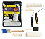 Bates Paint Roller - Paint Brush, Paint Tray, Roller Paint Brush, 9 Piece Home Painting Supplies, Foam Brush, House Painting Tray, Painting tools, Roller and Paint Brushes, Wall Paint Brushes