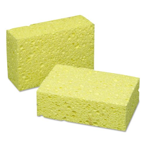 7920005598464 Cellulose Coarse-Textured Sponge, 3 5/8 X 5 3/4 X 1 3/4, Yellow by AbilityOne®