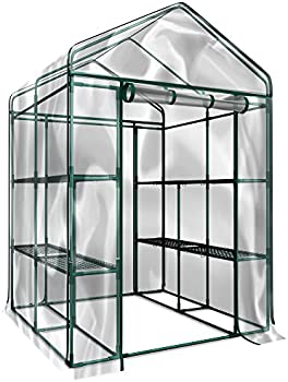 Plant Large Walk In Greenhouse With Clear Cover