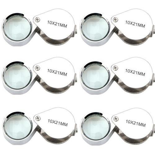 Lot 6 pcs New Magnifier 10x 21mm Jeweler Loupe Eye Glass Loop Magnifying ZX0011A
