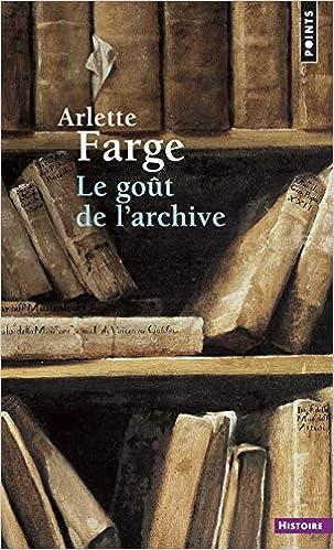 """Résultat de recherche d'images pour """"Le goût de l'archive"""""""