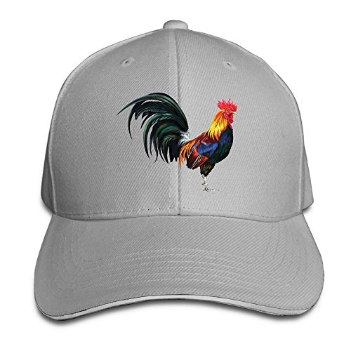 Safan532 Lifelike Rooster Funny Logo Fashion Unisex Unstructured Cotton Cap  Adjustable Baseball Hat Caps White 15a3ec95fdc5