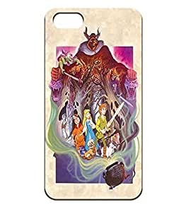 Iphone 4/4s Solid Carcasa The Black Cauldron Popular Disney Logo Series Ultra Slim Shell Cover Para Men