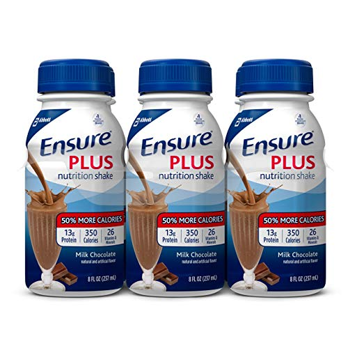 Ensure Plus Milk Chocolate Flavor 8 oz. Bottle Ready to Use, 57266 – Pack of 6