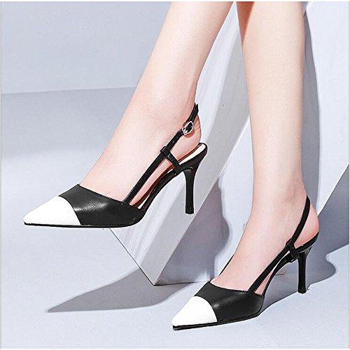 Estate Stile Bianca Misti Donna Consigli Colore 40 Stile Tacchi Moda Colori da Sandali Donna Scarpe Dimensioni Raffinati Nuovo r8EnZr