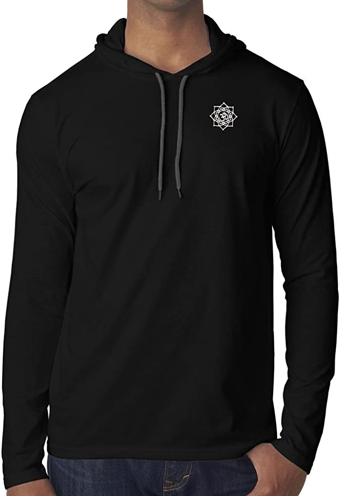 Amazon.com: Yoga Clothing For You Mens White Lotus OM Hoodie ...