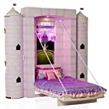 """Fable Bedworks Wallbed, """"Penny's Palace"""", Princess Twin Theme Bed for Children"""