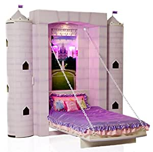 "Fable Bedworks Wallbed, ""Penny's Palace"", Princess Twin Theme Bed for Children"