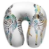 U-Shaped Neck Pillow Zebras Pillows Soft Portable For Travel Reading Sleeping