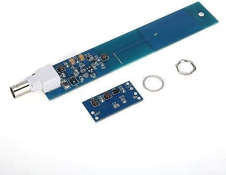 Oumij LF HF Antena Activa ABS Portátil Miniwhip Antena Activa HF LF VLF Módulo de Placa PCB para Comunicación