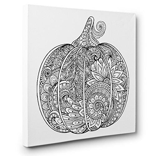 Pumpkin Art Therapy Coloring Canvas Home Decor