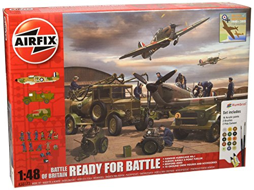 Airfix 1:48 Scale Battle of Britain Ready for Battle Plastic Model Gift Set