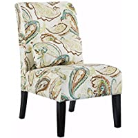Ashley Furniture Signature Design - Annora Accent Chair - Curved back - Vintage Casual - Paisley Pattern