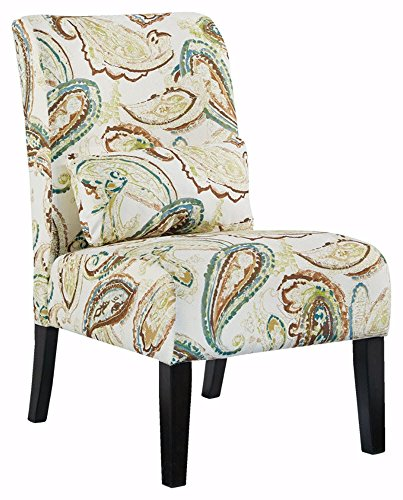 Ashley Furniture Signature Design   Annora Accent Chair   Curved Back   Vintage Casual   Paisley Pattern