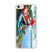 Generic iPod 6 Case,iPod 6 Cover,mario kart 8 arcade racing may Slim Case for iPod Touch 6(White)