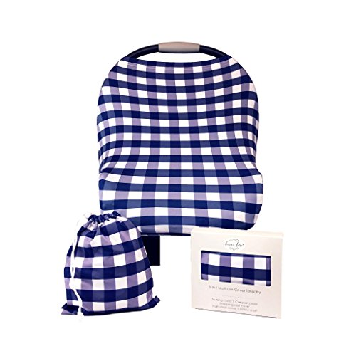 Fawn & Foster Baby Car Seat Cover Multi-Use Stretchy 5-in-1 Nursing, High Chair, Shopping Cart Cover (Murphy)