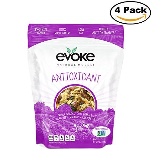 Muesli, Antioxidant, 12 ounce, PACK OF 4 by Evoke Healthy Foods