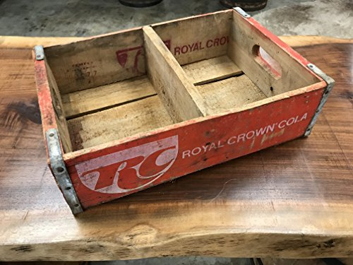 Vintage RC Cola Crate, Royal Crown Soda Pop Carrier Crate Circa 19702