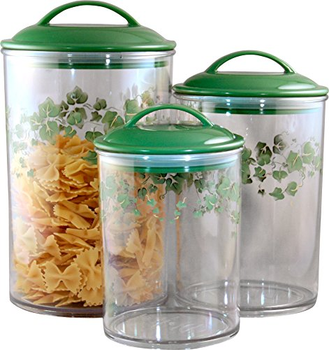 (Corelle Coordinates by Reston Lloyd Acrylic Storage Canisters, Set of 3, Callaway )