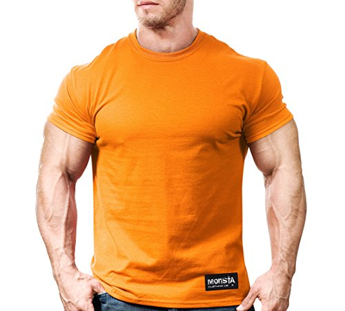 Monsta Gym Wear Classic Workout T-Shirt Orange