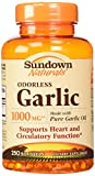 Cheap Sundown Naturals Odorless Garlic 1000 mg Softgels, 500 Count (2 X 250 Count Bottles)