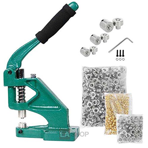 900 Grommets Tool Machine with #0 #2 #4 Dies (Industrial Grommet Machine compare prices)
