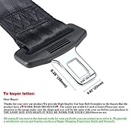ELUTO 2 Packs 9 Inch E11 Safety Certified Car Seat Belt Extender Car Seat Child Seat Elderly Pregnant Woman Seat Belt Extension