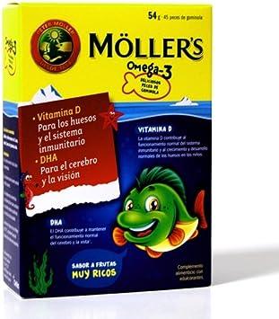MOLLERS aceite de hígado de bacalao omega3, 45 peces de gominola.: Amazon.es: Belleza