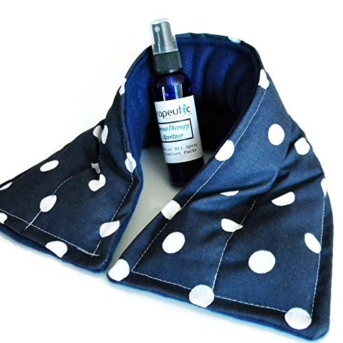 Neck Heating Pad, Bean Bag Neck Wrap for Microwave, Lavender Aromatherapy Herbal Spritzer