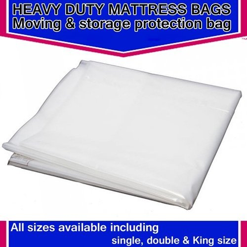 HEAVY DUTY REMOVAL MOVING MATTRESS POLYTHENE COVER BAG *400 GAUGE* (Kingsize 5ft Mattress Bag) KSM Brand