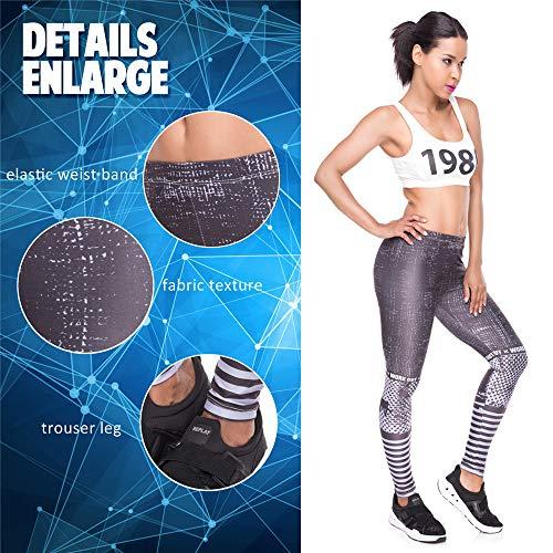 da Pantaloni da pantalone 1 alta elasticità di stampato yoga leggings da di donna donna Lybtrouser alta con yoga qualità npxPAqqw