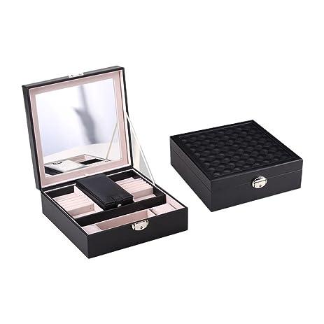 Amazoncom U Jewelry Box Classic Embroidery Jewelry Organizer