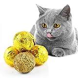 Norbi 3 Pcs/lot Cat Grass Ball Set Cat Favorite Cat Mint Ball Catnip Treat Snack for Cats