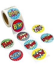 200 pegatinas de rollo perforadas para niños de fiesta de cumpleaños suministros escolares