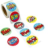 Fancy Land Perforated Roll Stickers 200Pcs for Kids Birthday Party Supplies School Awards Sticker